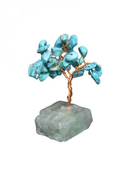 Copacel cu baza de fluorit si pietre de turcoaz reconstruit 8 cm 1
