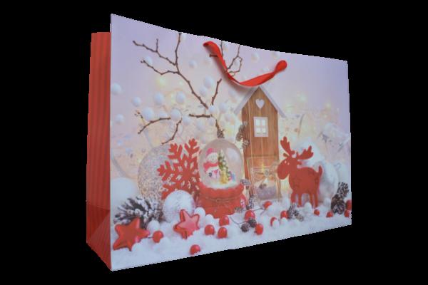 Punga pentru cadouri mare - Design peisaj craciun 1