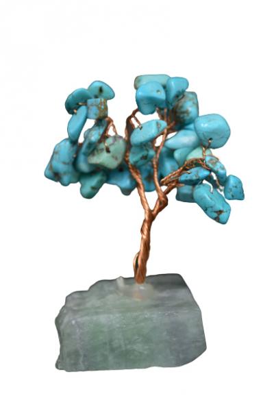 Copacel cu baza de fluorit si pietre de turcoaz reconstruit 8 cm 0