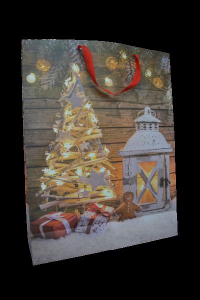 Punga pentru cadouri mare - Design cu brad 1