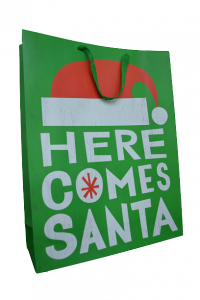 Punga pentru cadouri verde - Design Merry Christmas 1