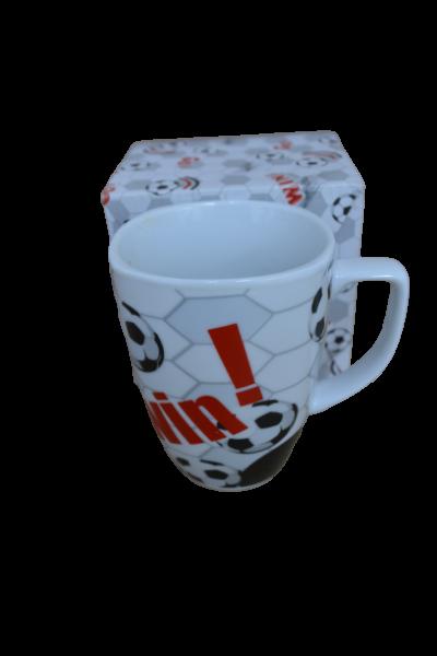 Cana din ceramica in cutie - Model minge 0