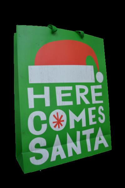 Punga pentru cadouri verde - Design Merry Christmas 0