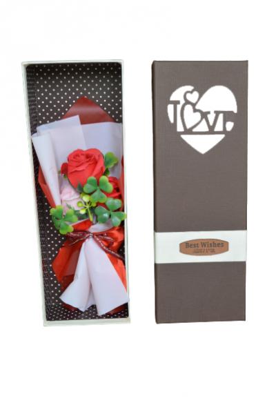 Buchet trandafiri sapun in cutie 0