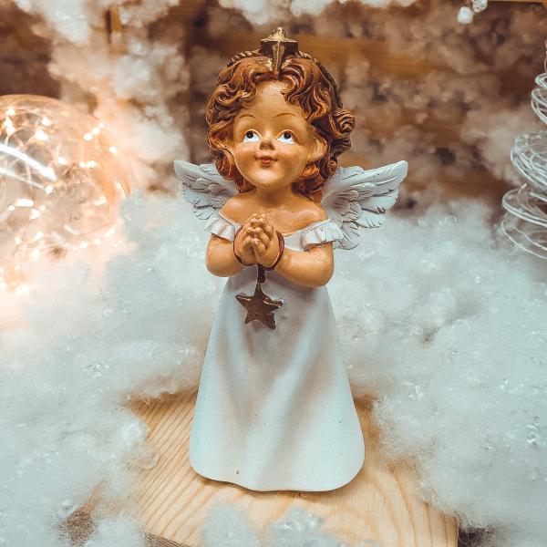 Figurina decorativa din rasina- Ingeras care se roaga 0