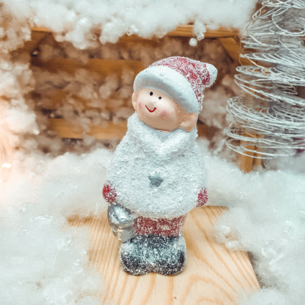 Figurina decorativa pentru Craciun realizata din ceramica – Copil [0]