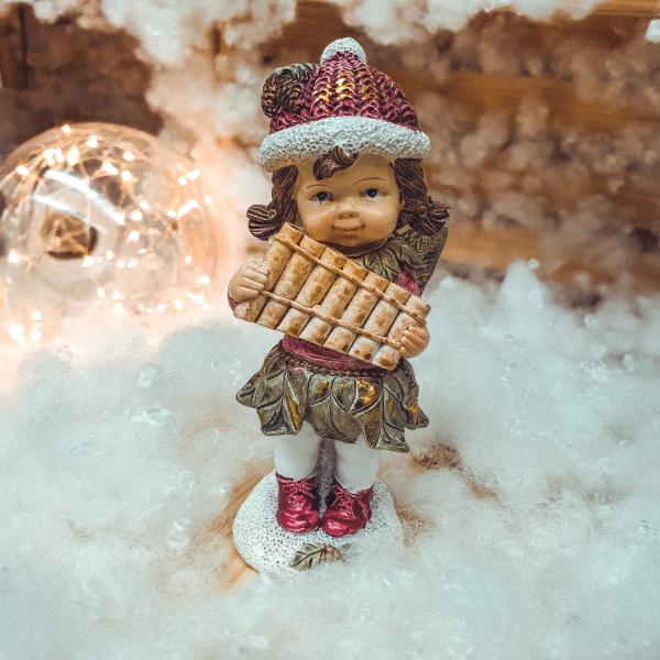 Figurina decorativa pentru Craciun realizata din ceramica – Copil 0