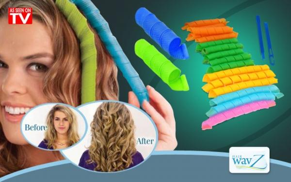 Set 16 bigudiuri spiralate pentru ondulat parul Hair Wavz 3