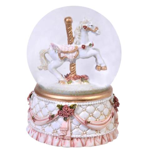 Glob ornamental de Craciun cu Lichid, model Cal, 6 cm 1