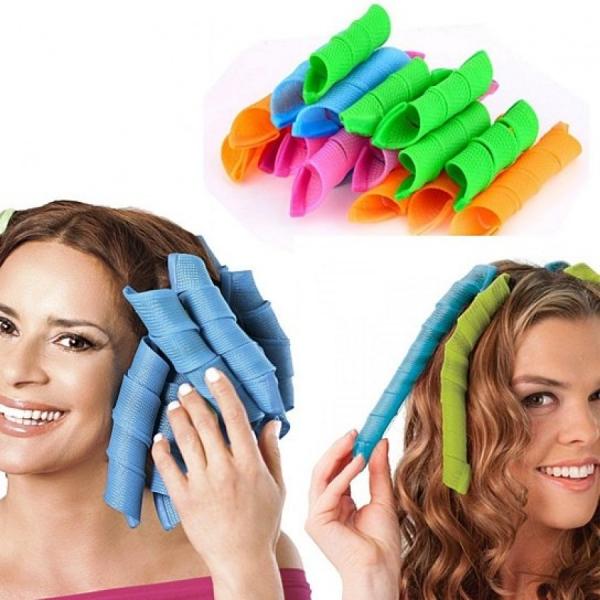 Set 16 bigudiuri spiralate pentru ondulat parul Hair Wavz 0