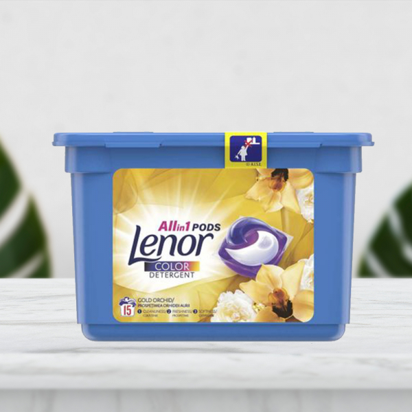 Detergent capsule Lenor All in One PODS Gold Orchid 15 spalari - 15 buc. 0