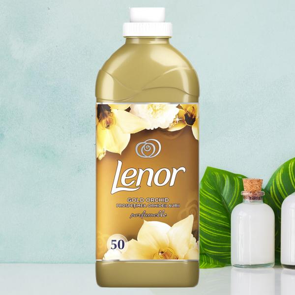 Balsam de rufe Lenor Parfumelle Gold Orchid, 50 spalari, 1.5L 0