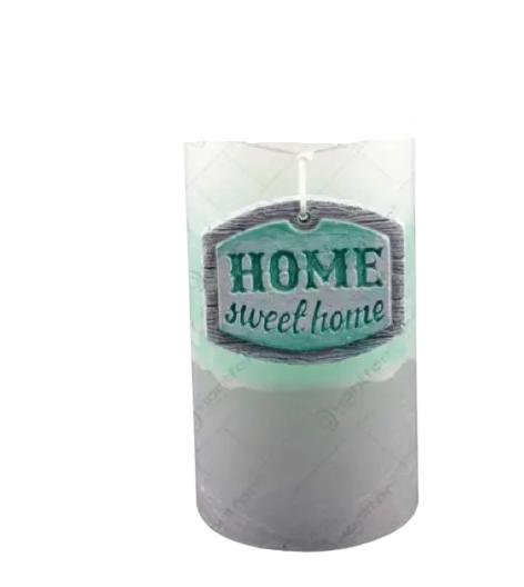 Lumanare realizata in forma cilindrica – Home Sweet Home 0