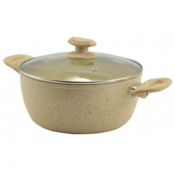 Oala Ceramica Marble cu Maner 24X10cm/4,2L 0