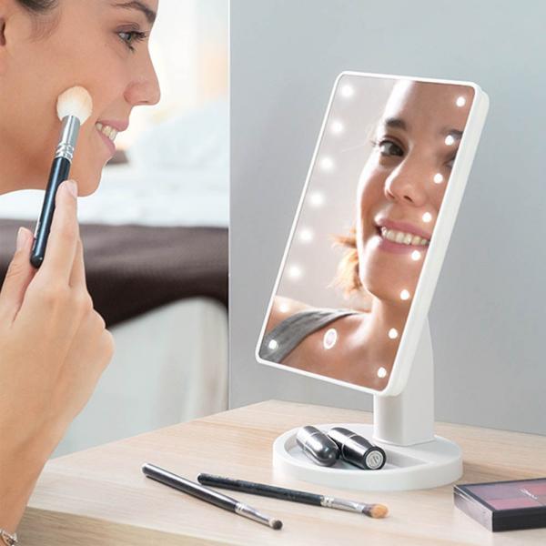 Oglinda Machiaj Cu LED Portabila Wellness Beauté - 16 Leduri [0]