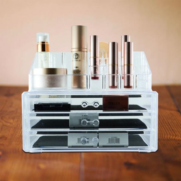 Organizator Pentru Cosmetice Transparent - 3 Sertare #2 0