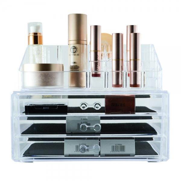 Organizator Pentru Cosmetice Transparent - 3 Sertare #2 1