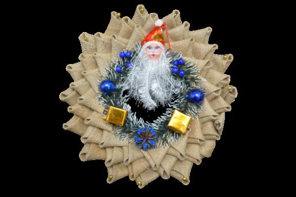 Ornament coroana cu Mos Craciun 0