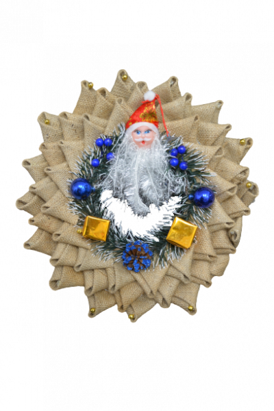 Ornament coroana cu Mos Craciun 1