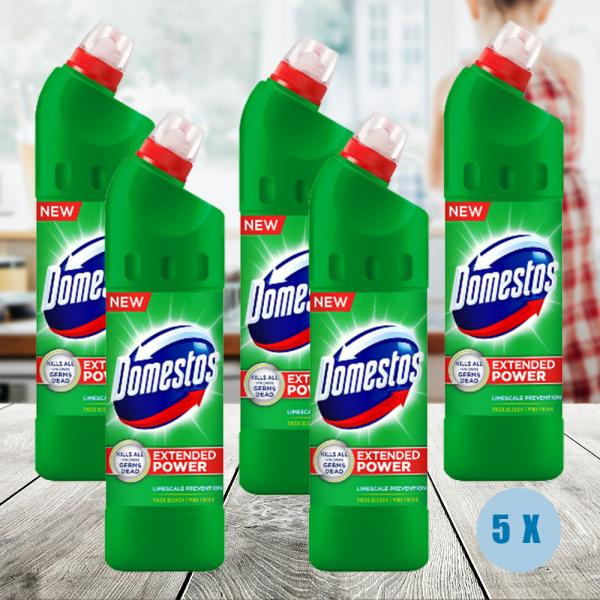 Pachet 5 x Domestos 750ml Pine Fresh dezinfectant 0
