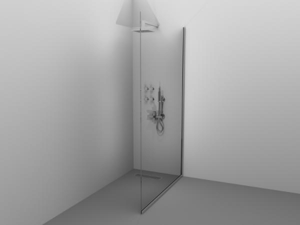 Paravan de duș Alux 120x190 - sticlă securizată, profil brill 0