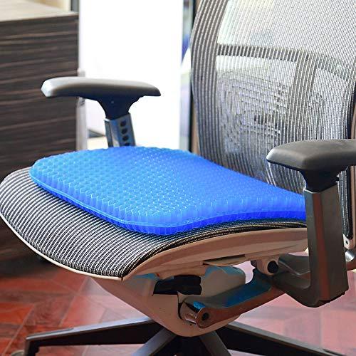 Pernă cu gel - pentru scaun, antiderapant și respirabil,pentru durere de spate 3