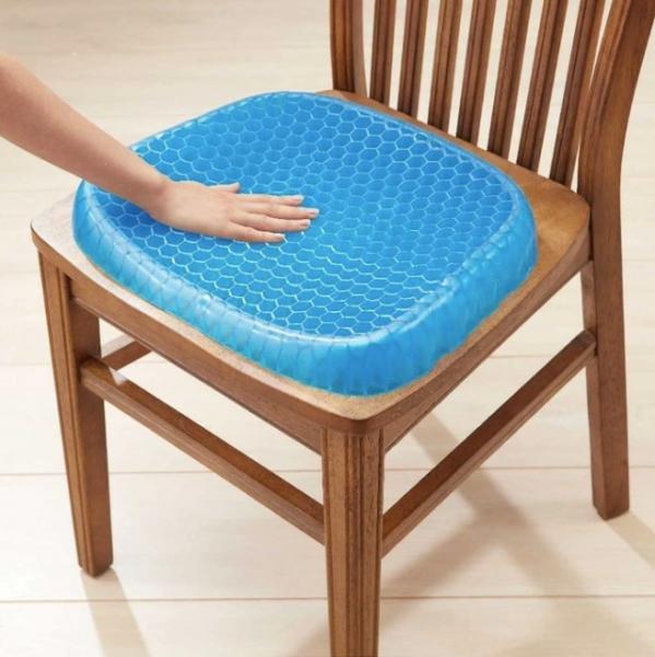 Pernă cu gel - pentru scaun, antiderapant și respirabil,pentru durere de spate 5