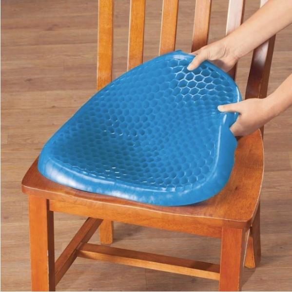 Pernă cu gel - pentru scaun, antiderapant și respirabil,pentru durere de spate 2