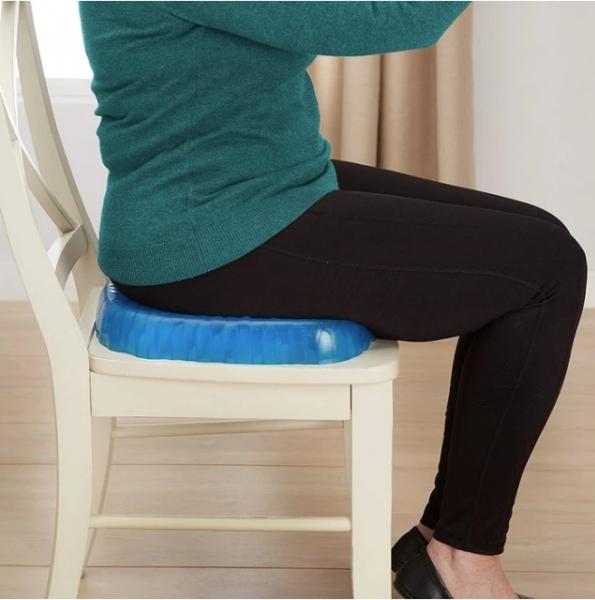 Pernă cu gel - pentru scaun, antiderapant și respirabil,pentru durere de spate 7