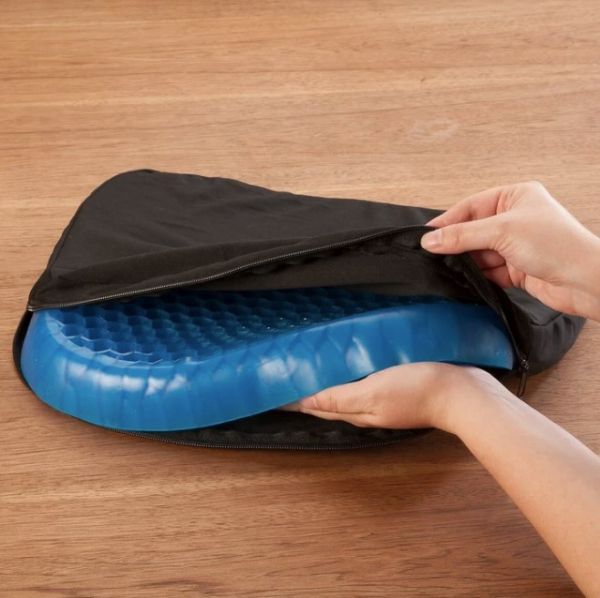 Pernă cu gel - pentru scaun, antiderapant și respirabil,pentru durere de spate 6
