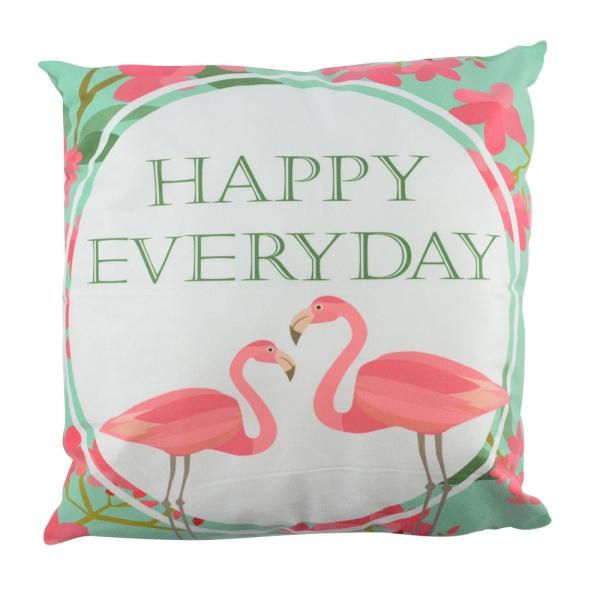 Perna Decorativa Flamingo Happy Everyday 45X45 CM 2