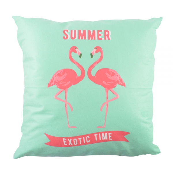 Perna Decorativa Flamingo Summer Exotic Time 45X45 CM 2
