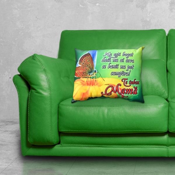 Perna Decorativa Te Iubesc Mama 33x26 CM 1