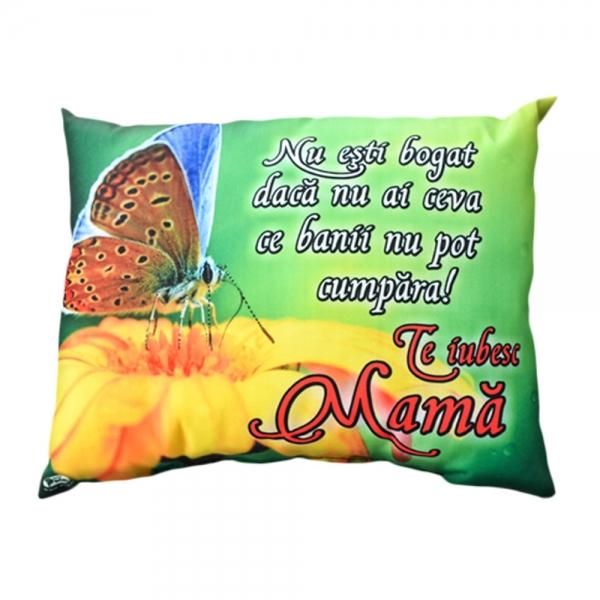 Perna Decorativa Te Iubesc Mama 33x26 CM 2