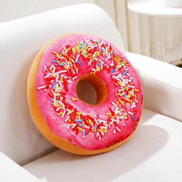 Perna Decorativa Donut Roz 35X35 CM 0