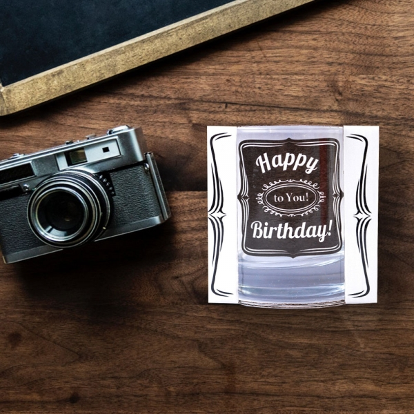 Pahar Whisky Happy Birthday To You! 200 ML 0