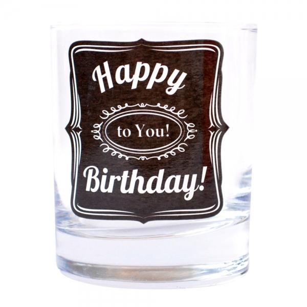 Pahar Whisky Happy Birthday To You! 200 ML 2