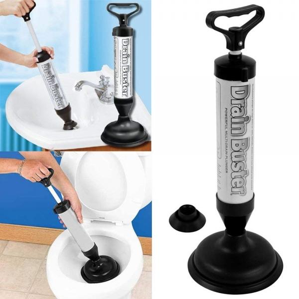 Pompa Pentru Desfundat Chiuveta Si Toaleta – Cu 2 Duze 1