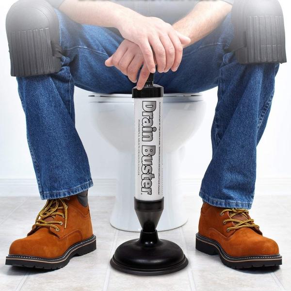 Pompa Pentru Desfundat Chiuveta Si Toaleta – Cu 2 Duze 3
