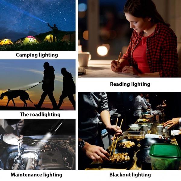 Lanterna LED Cu Baza Magnetica – 2 Functii - 4 Culori 6