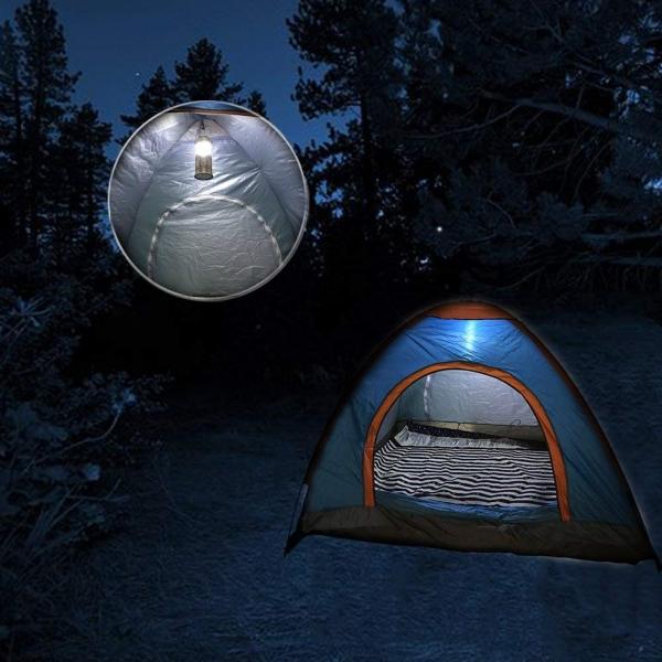 Lanterna Camping Cu Incarcare Solara, USB Sau La Priza – 6 Leduri 8