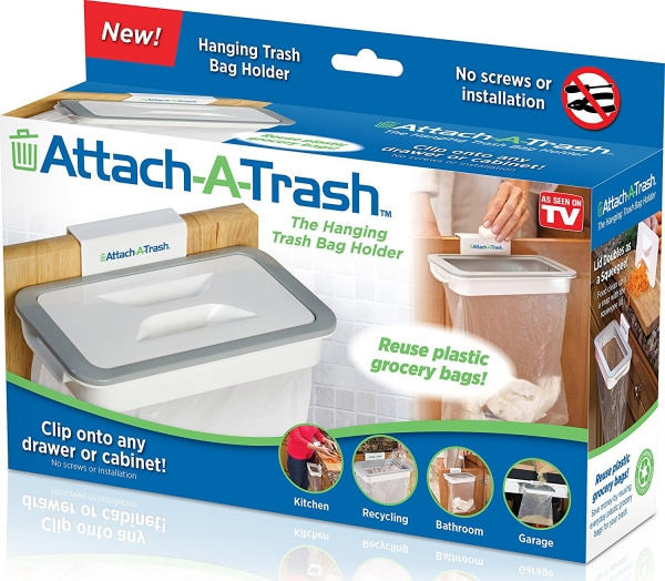 Suport Pentru Sacul De Gunoi Cu Capac - Attach A Trash 4