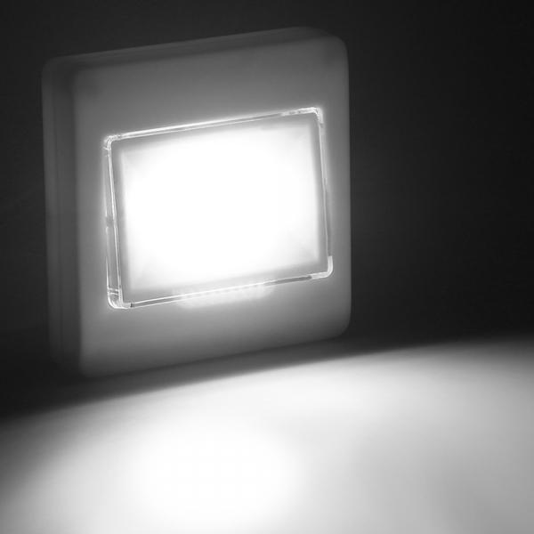 Set 2x Intrerupator LED Cu Lanterna, Lampa De Veghe – Cu Magnet Si Baterii 0