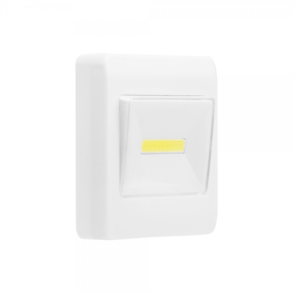 Set 2x Intrerupator LED Cu Lanterna, Lampa De Veghe – Cu Magnet Si Baterii 1
