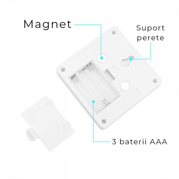 Set 2x Intrerupator LED Cu Lanterna, Lampa De Veghe – Cu Magnet Si Baterii 2
