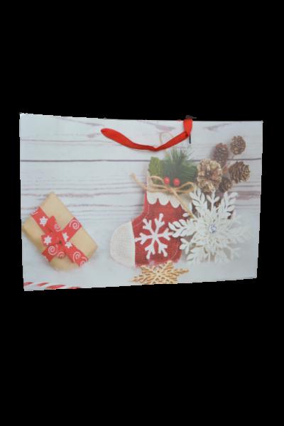 Punga pentru cadouri mare - Design ornamente craciun 0