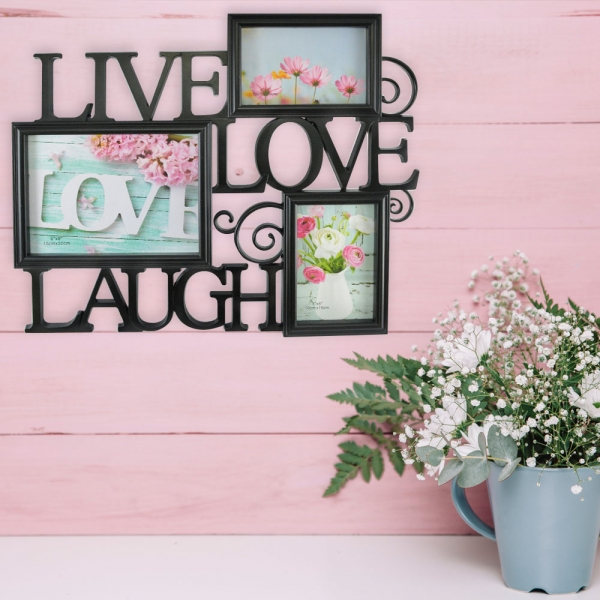 Rama Foto Live, Laugh, Love 45X38 CM 1