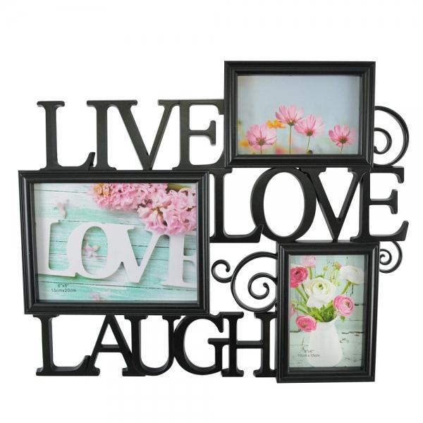 Rama Foto Live, Laugh, Love 45X38 CM 2