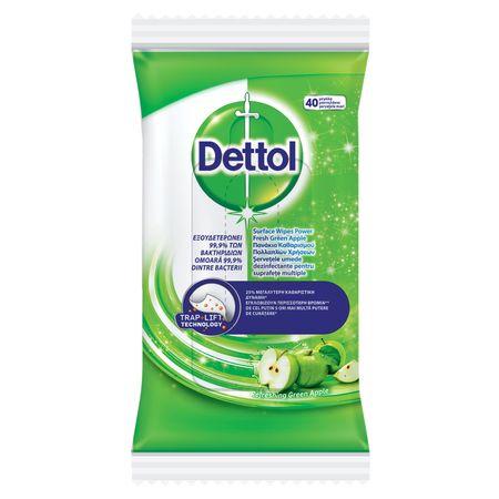 Pachet  2 x Spray multifunctional Dettol Trigger Power & Fresh, Green Apple, 500 ml + 2 x Servetele dezinfectante Dettol - 40 buc. + 5 x Mască pentru față reutilizabilă 1