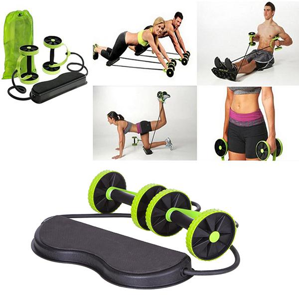 Roată dublă cu role pentru abdomen Fitness Extreme 12